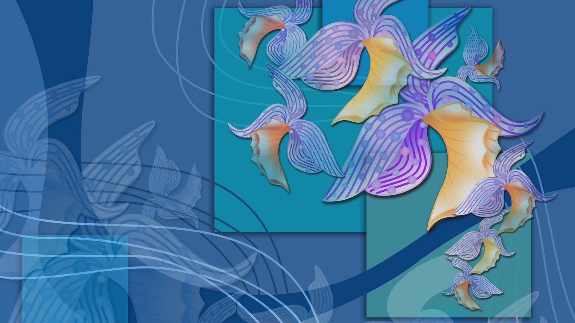 【制作网页素材篇】手绘鲜花精美背景素材