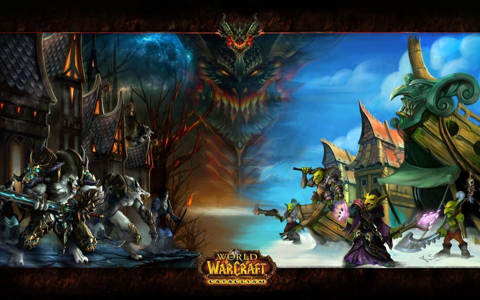 Обои World of Warcraft: Cataclysm скачать для рабочего стола, рисунки гобли