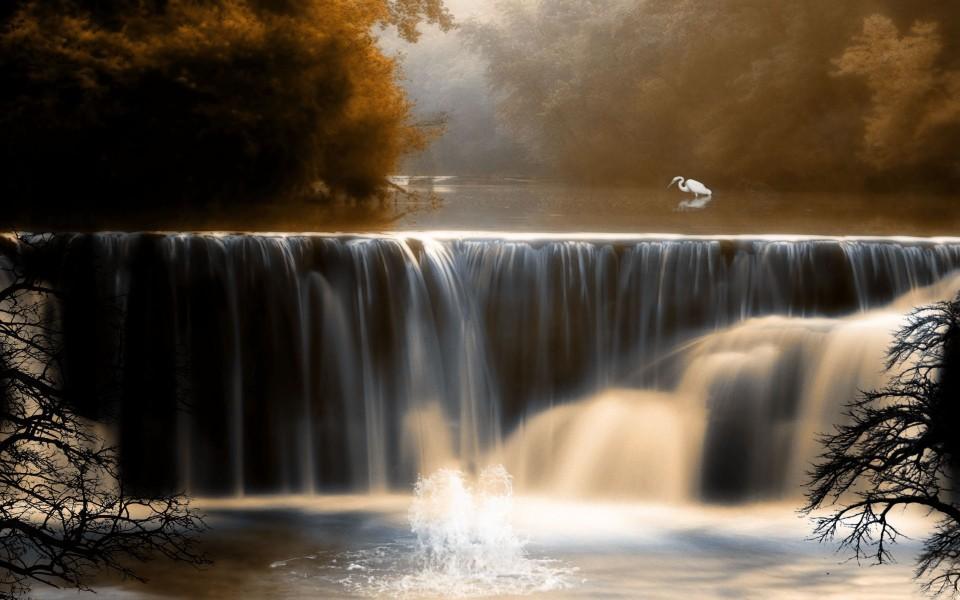 壁纸 风景 旅游 瀑布 山水 桌面 960_600