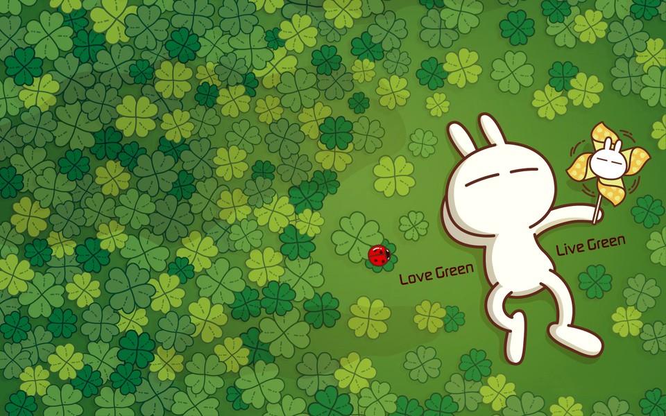笔记本壁纸 兔斯基壁纸 可爱的兔斯基高清桌面壁纸下载   作者:壁纸