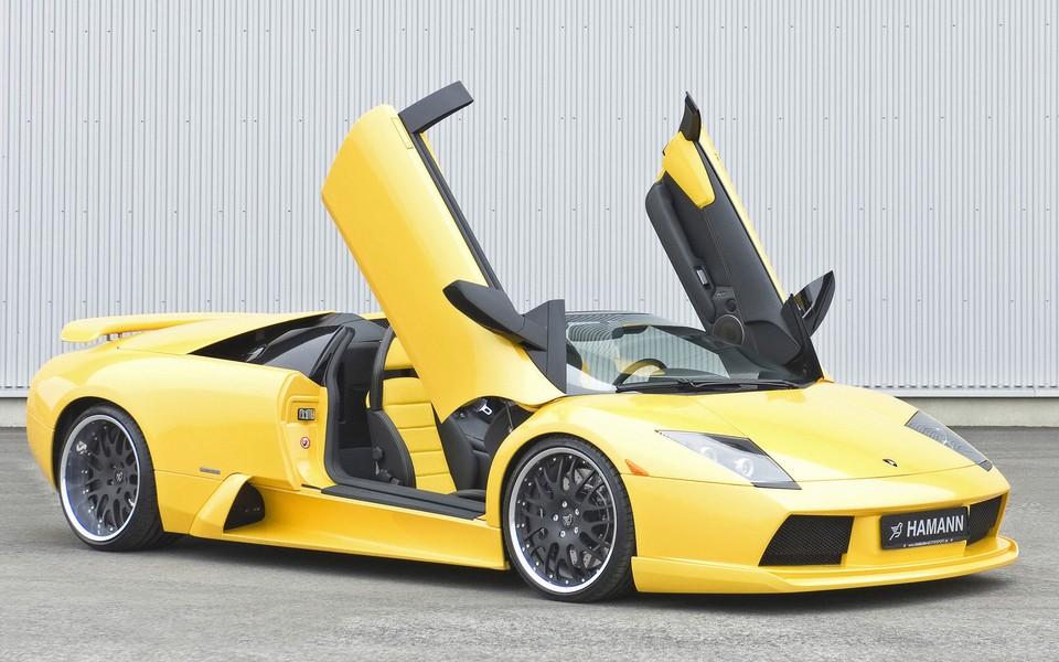 黄色兰博基尼汽车壁纸高清图片