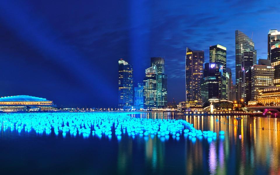 城市夜光主题超宽屏壁纸
