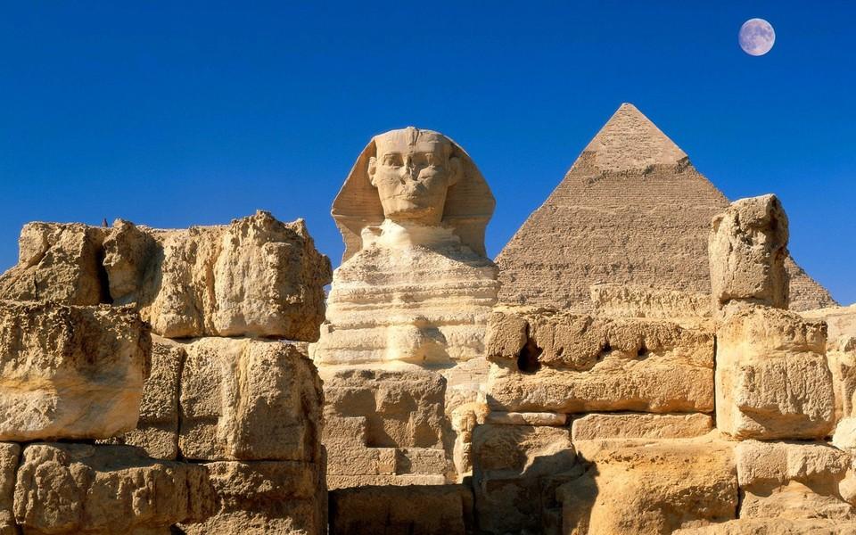 笔记本壁纸 风景壁纸 埃及法老和金字塔壁纸下载