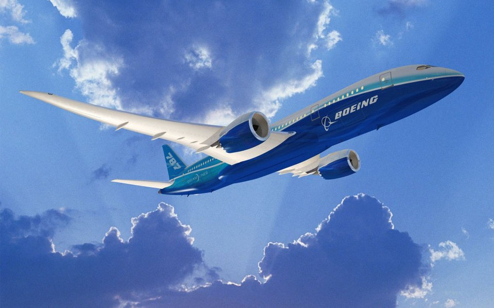 波音787梦想飞机桌面壁纸