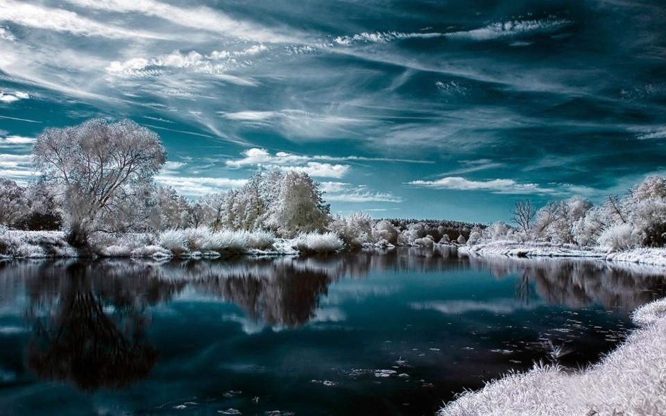 冬季雪的景观唯美高清电脑壁纸