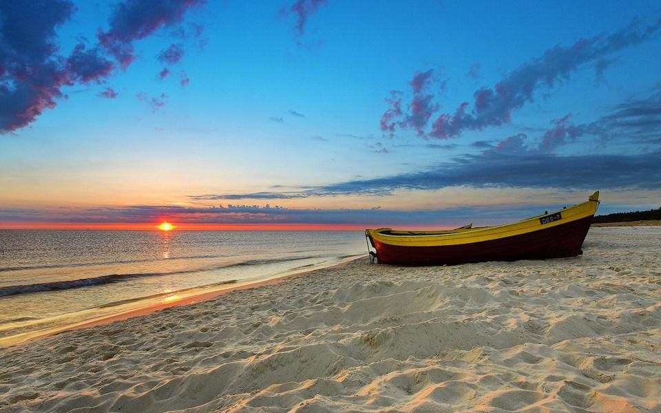电脑壁纸 海滩壁纸 唯美大海海滩高清桌面壁纸下载