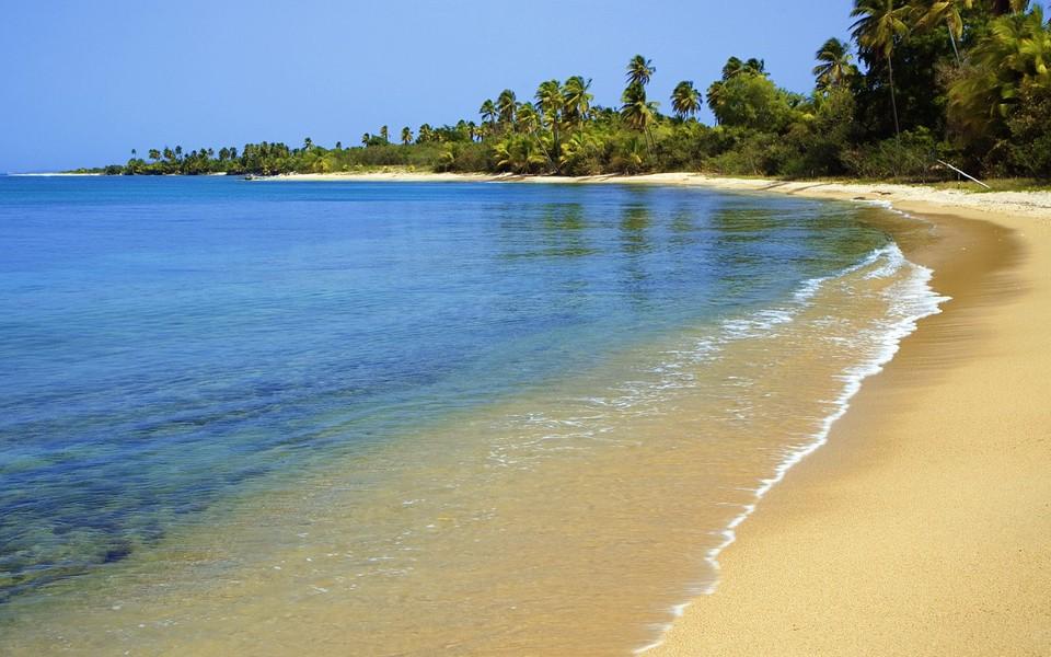 唯美大海海滩高清桌面壁纸