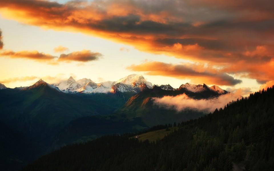 笔记本壁纸 自然风景壁纸 阿尔卑斯山美景桌面高清壁纸下载   (9/11)