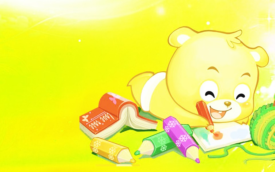 小熊梦工厂卡通桌面壁纸