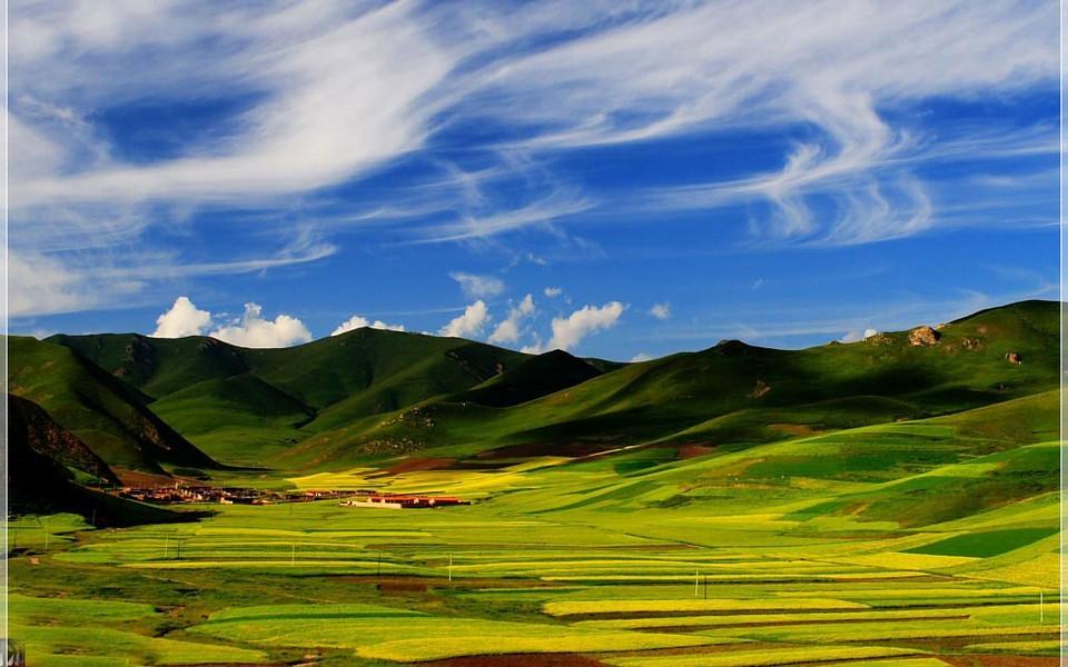 电脑壁纸 自然风景壁纸 美丽的田园风光电脑桌面壁纸下载