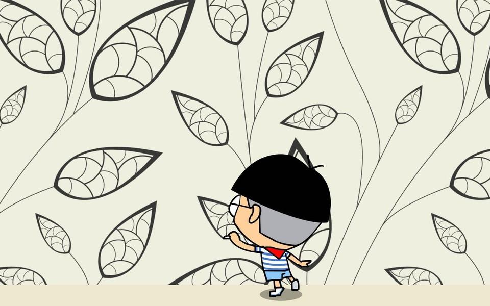 小明可爱卡通高清宽屏桌壁纸