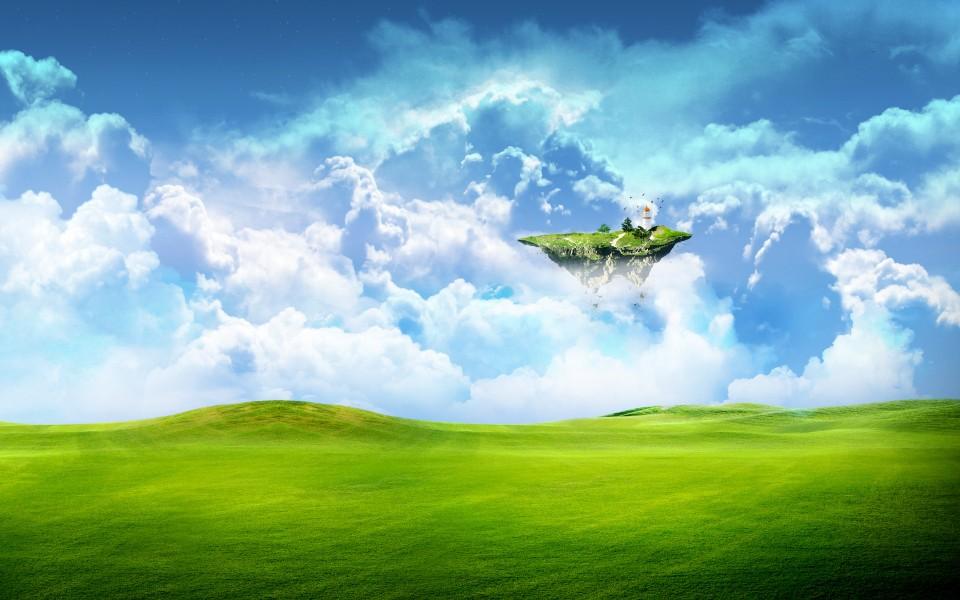 蓝天白云高清风景壁纸