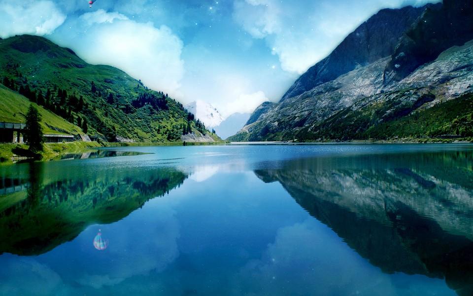 深蓝色的自然美景电脑壁纸-zol桌面壁纸