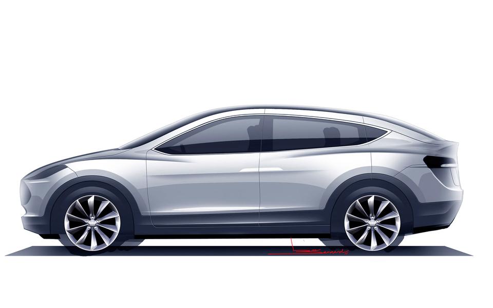 电脑壁纸 汽车壁纸 特斯拉model x prototype轿车桌面壁纸下载   (4