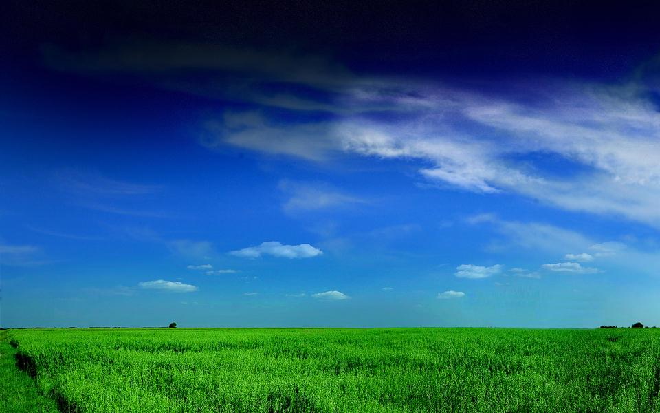 夏日清爽蓝色桌面壁纸