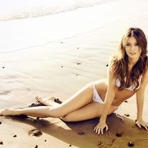沙滩美女比基尼壁纸