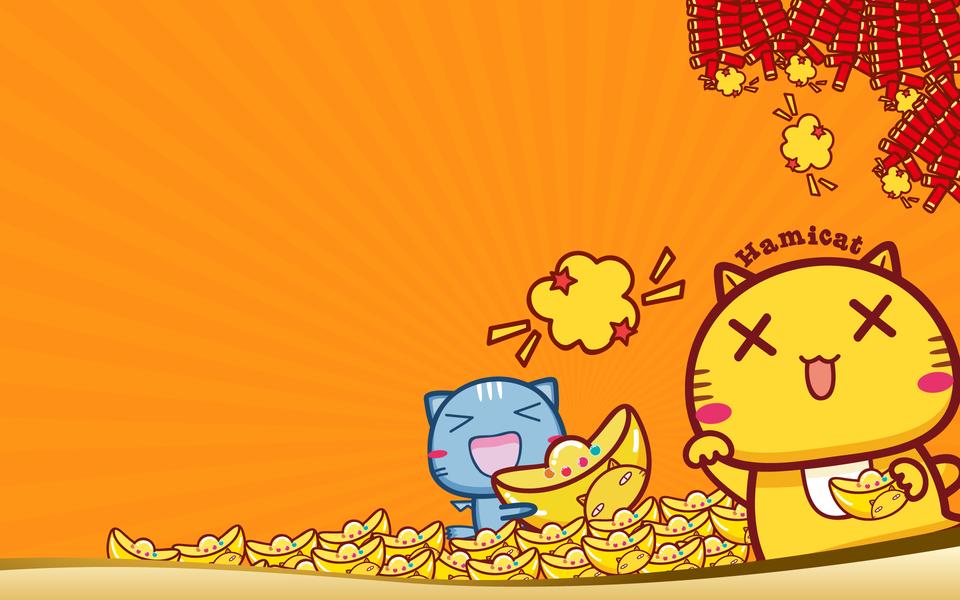 春节卡通背景素材