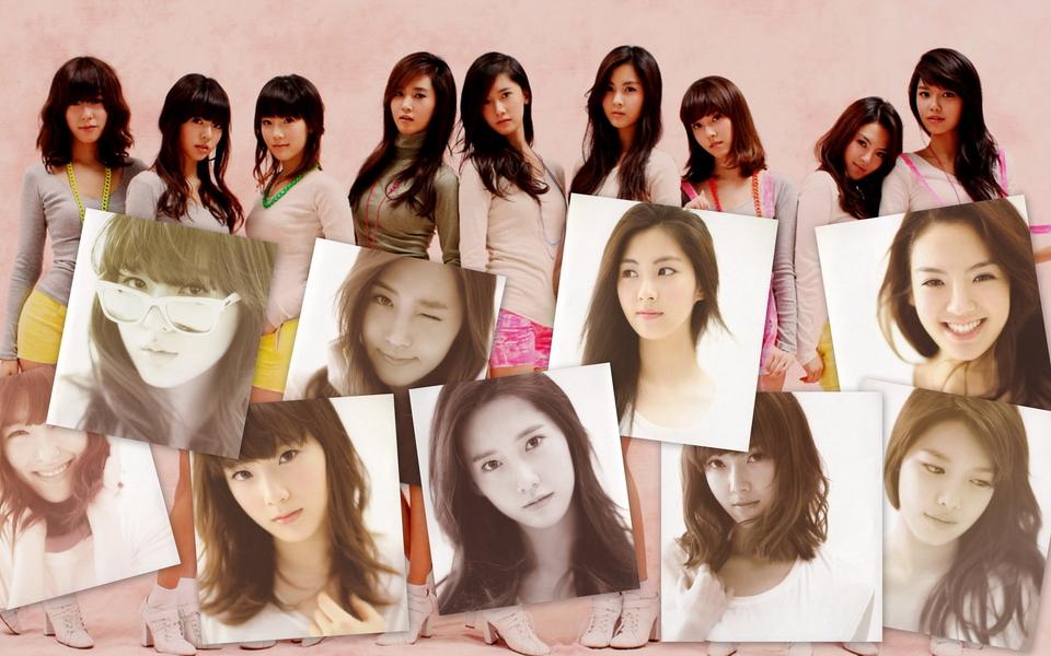 韩国美女组合图片集合壁纸