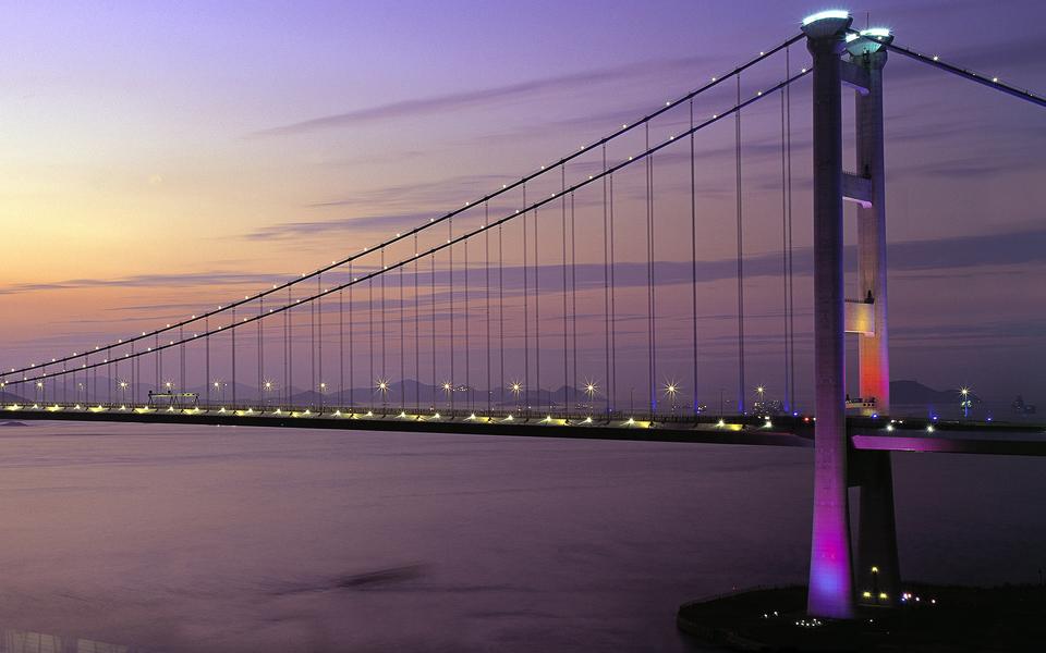 壮观的大桥高清平板壁纸