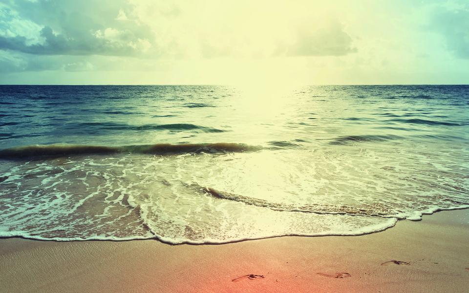 笔记本壁纸 自然风景壁纸 海滩日落超大高清壁纸下载   (9/11) 小箭头