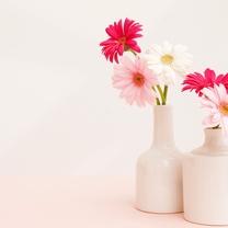 七夕节花卉布置桌面壁纸