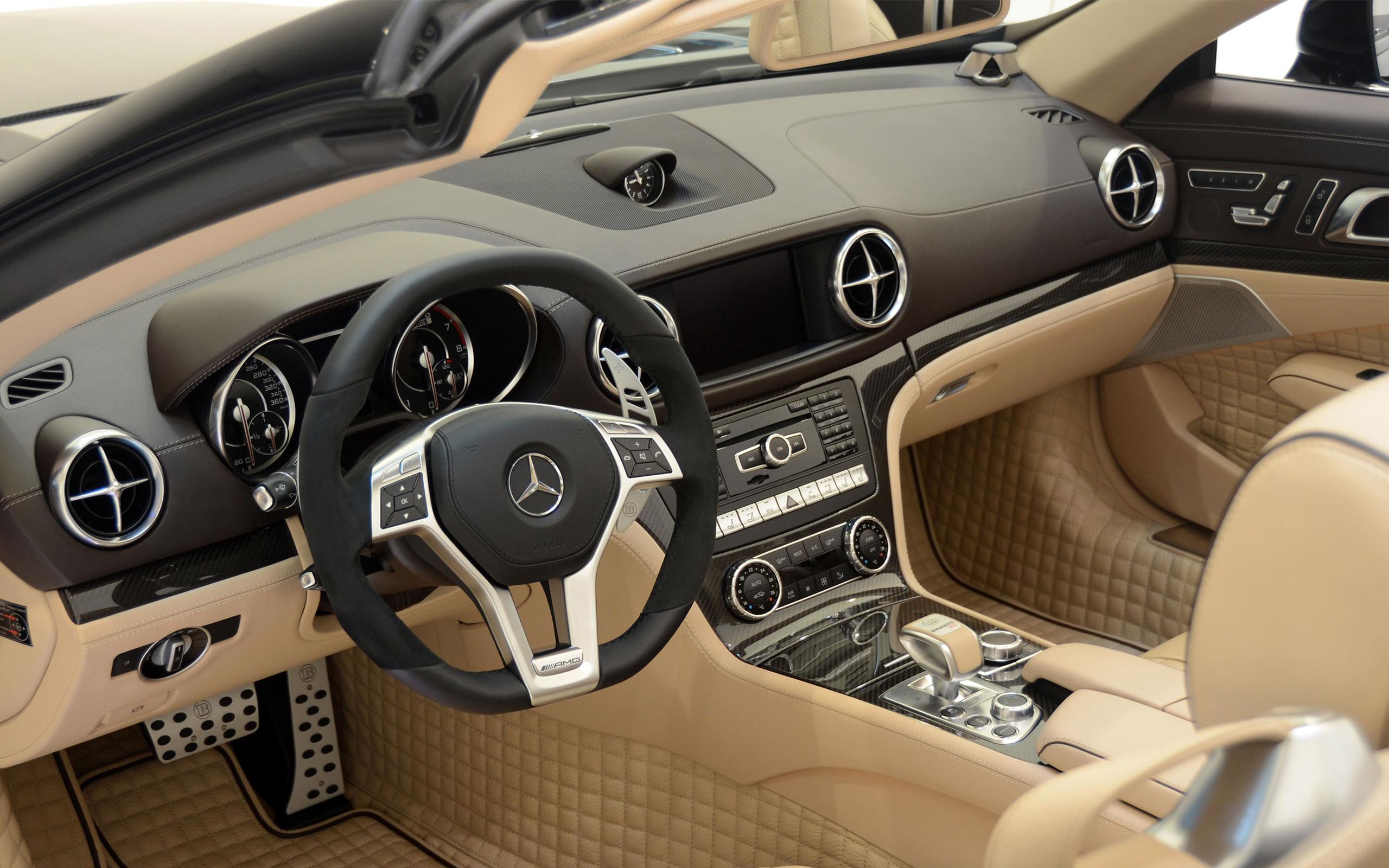 2013款Brabus奔驰SL65 AMG改装版800Brabus跑车桌面壁纸高清图片