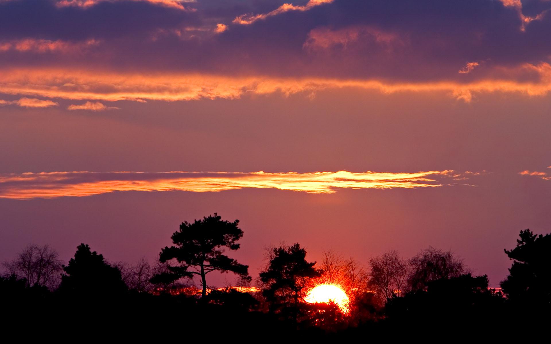 夕阳风景宽屏桌面壁纸图片