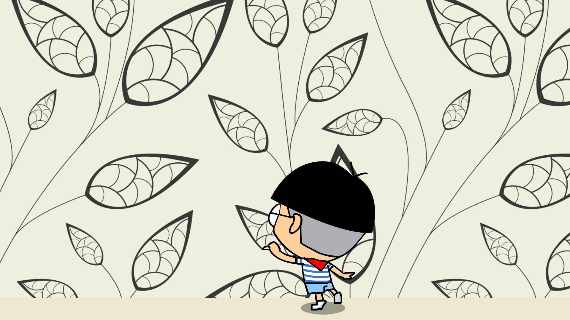 小明可爱卡通高清宽屏桌壁纸(10/18)