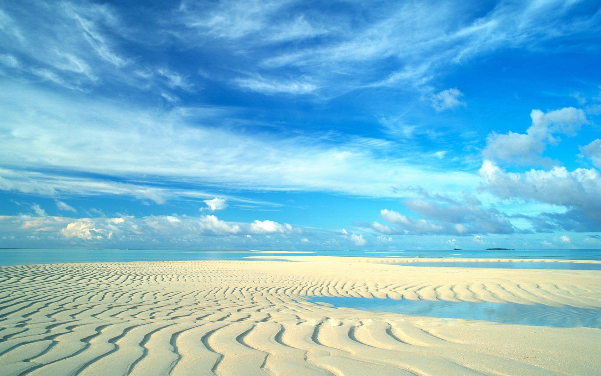 尔代夫唯美海滩电脑壁纸