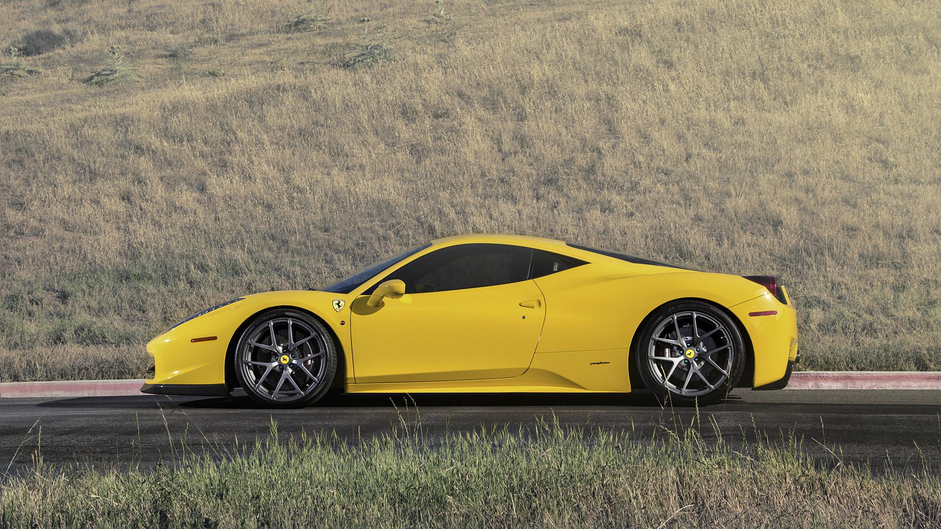 黄色法拉利458超级跑车壁纸高清图片