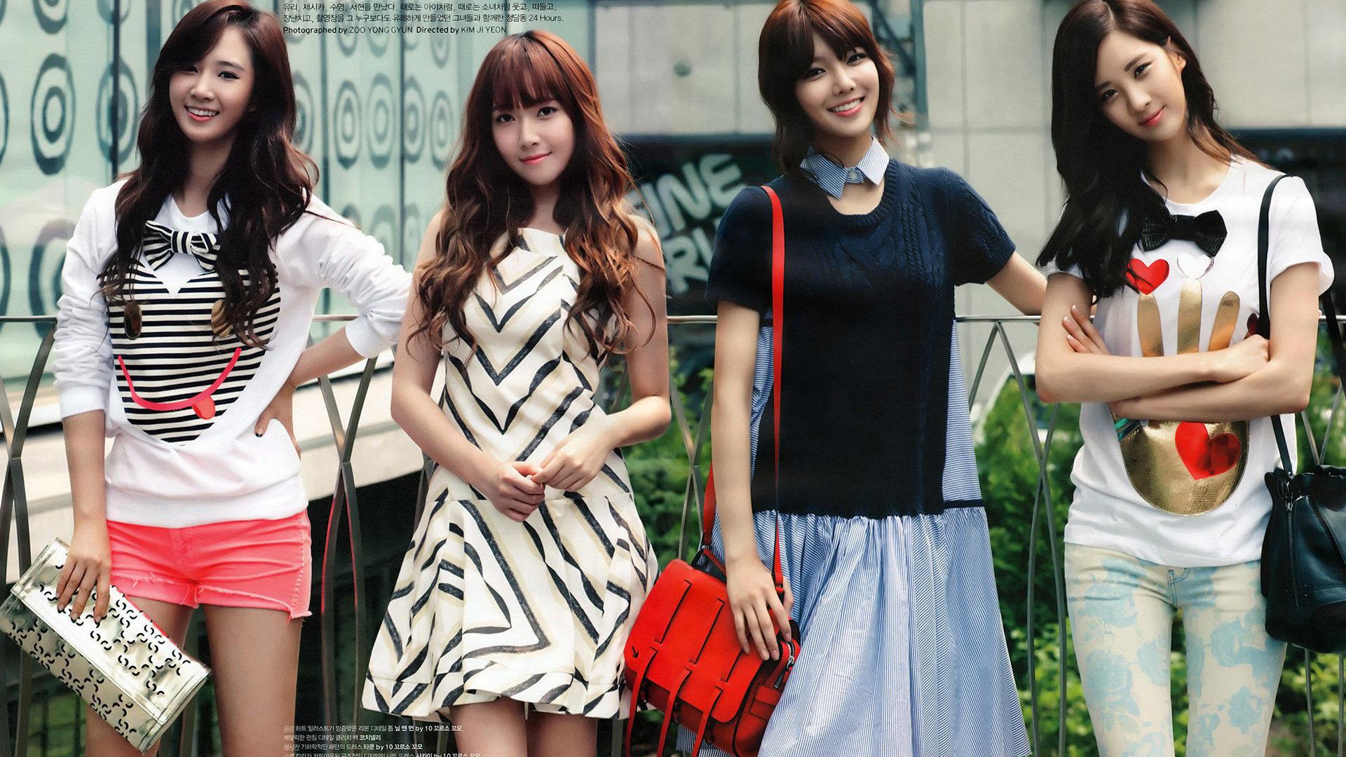 女时代 韩国美女明星组合壁纸