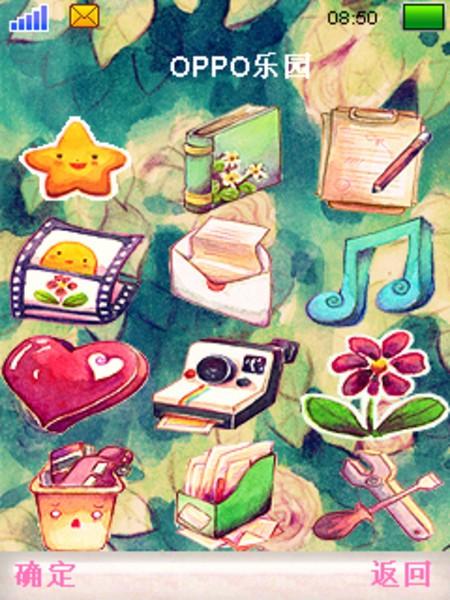 【图】超可爱手绘图标水粉风格生如夏花手机主题图片