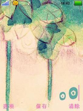 【超可爱手绘图标水粉风格生如夏花手机主题】安卓