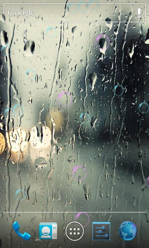 雨滴動態壁紙鎖屏