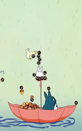 动漫电影《龙猫》可爱壁纸
