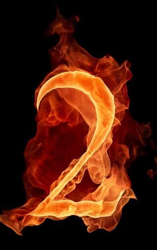 火焰数字手机壁纸