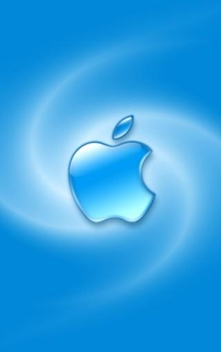 蓝色苹果logo壁纸下载-zol手机壁纸