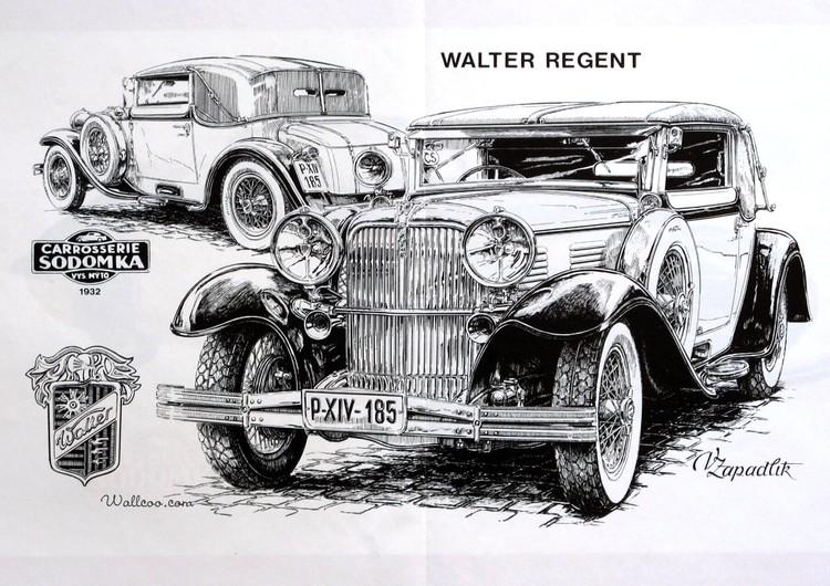手绘古董车图鉴壁纸
