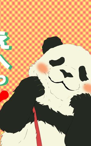 卡通壁纸 白熊咖啡厅熊猫手机壁纸