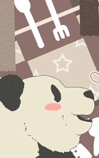 白熊咖啡厅熊猫手机壁纸