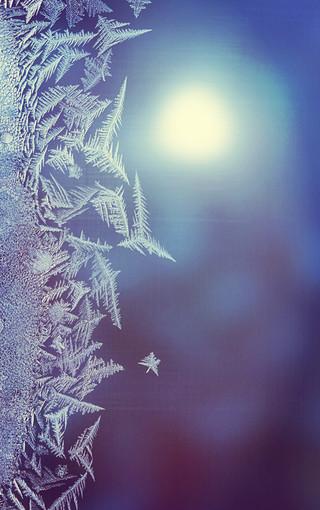 冰雪景色矢量图