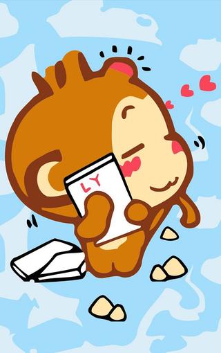 可爱嘻哈猴动漫iphone手机壁