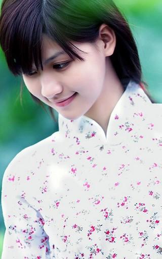 江南水乡气质美女iphone5手机壁纸