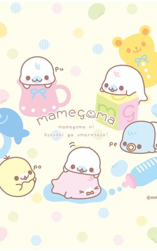 mamegoma海豹宝宝手机壁纸