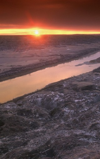 美丽夕阳景色手机壁纸