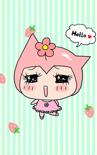 可爱卖萌卡通iphone手机壁纸
