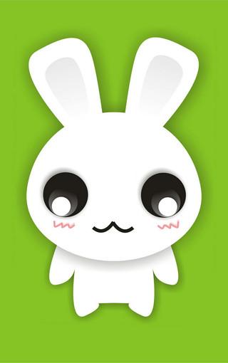 可爱卡通动物矢量图卡通小白兔