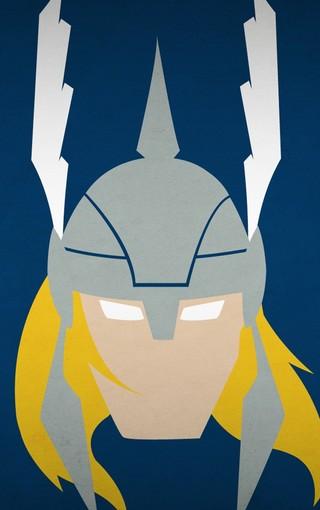 简约美式漫画英雄头像高清创意壁纸