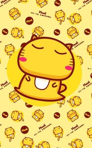 哈咪猫hamicat可爱卡通iphone4s手机壁纸