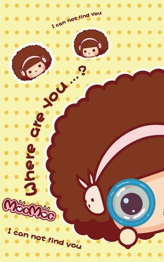摩丝可爱卡通手机壁纸